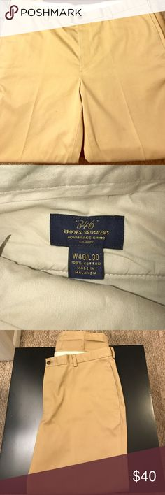 Brooks Brothers 346 khaki pants Brooks Brothers 346 khaki pants . Waist size 40 , length 30 . Look almost new Brooks Brothers Pants Chinos & Khakis