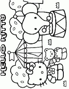 Hello Kitty In The Circus Coloring Pages Hello Kitty Colouring Pages Hello Kitty Coloring Kitty Coloring