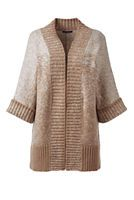 Women's Plus Size Elbow Sleeve Ombre Cardigan Sweater from Lands' End