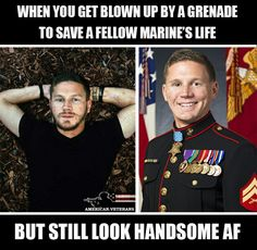 Let's go America protecting other members of the military even if you suffer the consequences. I love America Military Humor, Military Love, Military Veterans, Military Quotes, American Veterans, American Soldiers, Usmc, Marines, Once A Marine