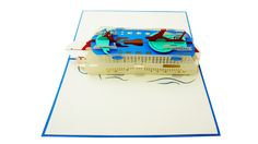 Cruise ship Pop-Up Card Pop Up, Transportation, Cruise, 3d, Cards, Popup, Cruises, Maps, Playing Cards