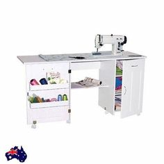 Naomi Sewing Machines/Craft Table Extendable Sewing Machine Desk Cabinets Wheels