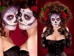 Day of The Dead Makeup. Loving the hair!