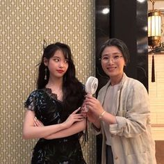 """""""Jang Manwol posted reunion pics with her ex human general manager look at her smiles she's so cute they are so cute"""" Luna Fashion, Floral Lace Dress, Pretty Men, Her Smile, K Idols, Korean Singer, Actresses, Actors, Celebrities"""