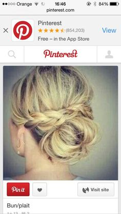 Casual up do