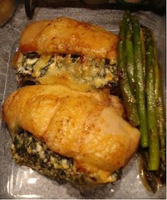 Spinach & Cream Cheese Stuffed Chicken Breast Recipe - Good, tastes exactly like what it is - creamed spinach + chicken