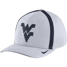 sports shoes e9d2e a9b9b Nike Men s West Virginia Mountaineers White Aerobill Swoosh Flex Classic99  Football Sideline Hat