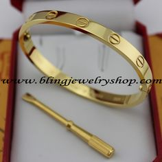 New Cartier Yellow Gold Love Bracelet B6035516, available from www.blingjewelryshop.com.