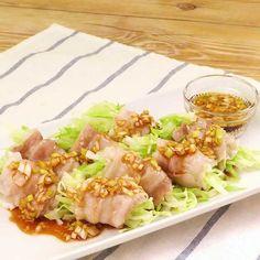 「レンジで肉巻きキャベツ」のレシピ動画 Delish Kitchen, Cabbage, Meat, Vegetables, Ethnic Recipes, Food, Veggie Food, Cabbages, Vegetable Recipes