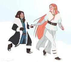 kili/tauriel | Tumblr Hobbit Art, O Hobbit, Hobbit Hole, Kili And Tauriel, Fantasy Couples, Sherlock, Night Fury, Drarry, Middle Earth