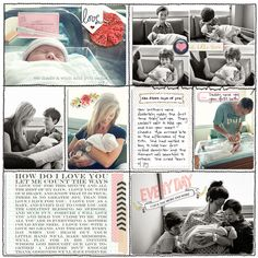 #papercraft #scrapbook #layout baby book example layouts