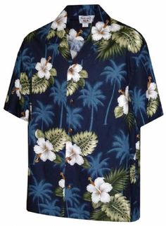 a2744ba6 Hibiscus Floral Boys Hawaiian Aloha Shirt - Navy This is what the ring  bearer is wearing