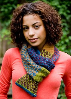 Clever Colors Scarf pattern by Lion Brand Yarn Free pattern ♥♥>1500 FREE patterns to knit♥♥ pinterest.com/... for more than 1500 FREE patterns to KNIT