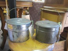 Old lunch pails!  www.burlingtonantiques.com