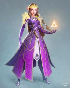 Princess Zelda redesign by magnoren