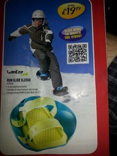 Shoes to make you fall over on snow QR code