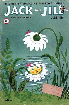 Jack and Jill. June 1956, cover by Wilbur Wickham