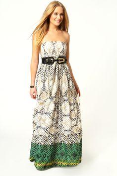 Shirred Maxi Dress