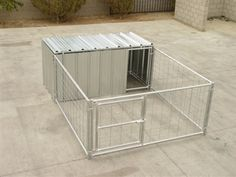 Hog Pen With Attached Shelter Enclosure
