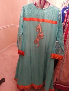 Light Bluish Green- Back- Pareesay Brand- Size 42