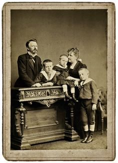 Alberto Henschel, Isabel, Princess Imperial of Brazil, the Count of Eu and their three children, 1885.