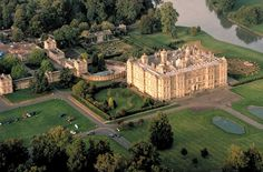 Longleat House aerial shot