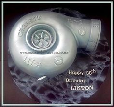 Garrett Turbo Engine Cake - cake by Mel_SugarandSpiceCakes Happy 30th Birthday, Husband Birthday, Birthday Cakes, Birthday Ideas, Fondant, Carros Turbo, Turbo Parts, Grooms Table, Tips