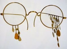 "Gastone Novelli ""A Pair of Gold Glasses"" 1969"