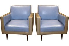 Midcentury Leather Club Chairs, Pair on OneKingsLane.com