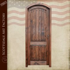 Door Wood Arch Entry Built To Old World Tradition - 8391RPA - High-end custom built entrance doors made from solid wood, available as interior or exterior doors