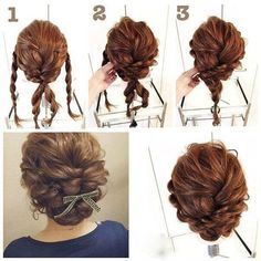 Adorable Twice Passed Chignon, Now this chignon may look tough to do, but it truly isn't. The secret is to have a firm hold on your hair and have your bobby pin prepared to end up the chignon after the pass. Complete the look with flowers or a bow. Up Dos For Medium Hair, Medium Hair Styles, Curly Hair Styles, Medium Hairs, Curly Updos For Medium Hair, Updos For Medium Length Hair Tutorial, Curly Short, Pretty Hairstyles, Easy Hairstyles