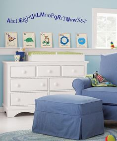 Alphabet Trail- ABC's- childrens nursery  -  Vinyl Lettering wall words graphics  decals  Art Home decor itswritteninvinyl