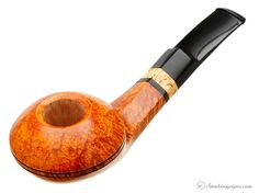 Peter Heeschen Smooth Bent Bulldog with Mazur Birch (B) Pipes at Smoking Pipes .com