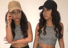 crop tops and high waisted shorts siange twins - Google Search