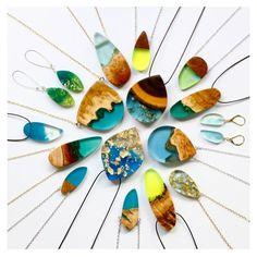 [orginial_title] – Karen Hennings Designer Turns Salvaged Wood Fragments Into Resin Jewelry Truly stunning pieces. Designer Turns Salvaged Wood Fragments into Gorgeous Handmade Jewelry – My Modern Met Resin Jewlery, Clay Jewelry, Jewelry Art, Jewelry Gifts, Yoga Jewelry, Jewelry Ideas, Wood Resin, Resin Art, Dragon Bracelet