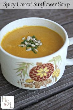 French Delicacies Essentials - Some Uncomplicated Strategies For Newbies Easy And Delicious This Spicy Carrot Sunflower Soup Whips Up In A Hurry And Packs Delightfully In A Travel Bottle For Lunches And Road Trips. Whole Food Recipes, Healthy Recipes, Healthy Soups, Vitamix Recipes, Blender Recipes, Vegan Soups, Bariatric Recipes, Delicious Recipes, Easy Recipes