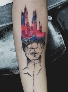 Urban Head Tattoo