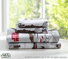 Star Wars Return of the Jedi Sheeting #pbkids I love these sheets and they come in Queen size!!