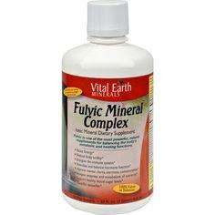 Vital Earth Minerals Fulvic Mineral Complex - 32 Fl Oz  #love #organic #inspiredbeacon  #MineralSupplements #VitaminsMinerals