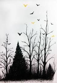 Resultado de imagem para forest tattoo drawing