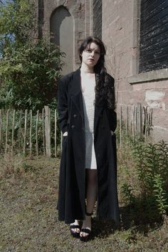 Grunge Goth Maxi Length Coat M/L