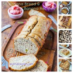 35 Favorite Banana Bread and Banana Recipes on averiecooks.com // A collection of banana bread, cakes, and muffins from a blogger who LOVE banana bread in all forms! #bananabread #recipe