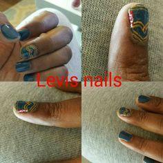 Levis nails design
