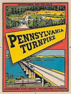 PA Turnpike - Philadelphia Extension decal, ca. 1948.