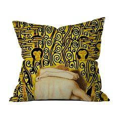 Gustav Klimt - Güneş Kırlent - Kırlentler - Cipcici Gustav Klimt, Throw Pillows, Bed, Toss Pillows, Stream Bed, Decorative Pillows, Decor Pillows, Beds, Scatter Cushions