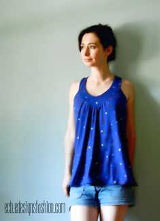 E.C.B. (Especially Creative Broad): Want this shirt?  Learn how to make it!