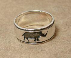 Rhino Ring - Sterling Silver Ring -202 by Firefallstudios on Etsy https://www.etsy.com/listing/262185928/rhino-ring-sterling-silver-ring-202