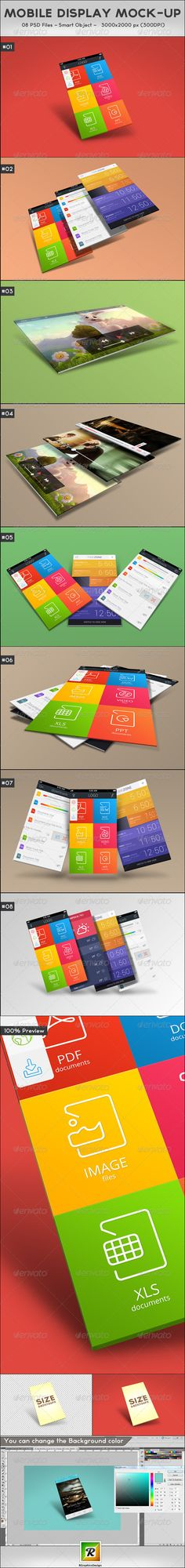 Mobile Display MockUp — Photoshop PSD #webpage #mresentation • Available here → https://graphicriver.net/item/mobile-display-mockup/5545991?ref=pxcr