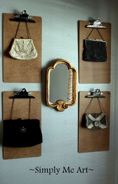A Mini Collection of Vintage Purses in my Studio~ Simply Me Art Studio