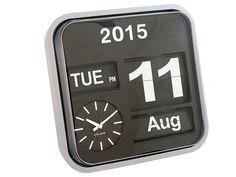 Karlsson Mini Flip Silver Case Wall Clock
